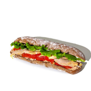 Tuna, Roasted Pepper, Egg and Mayonnaise on Polar Bread