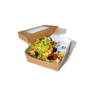 Cous cous salad with king prawns