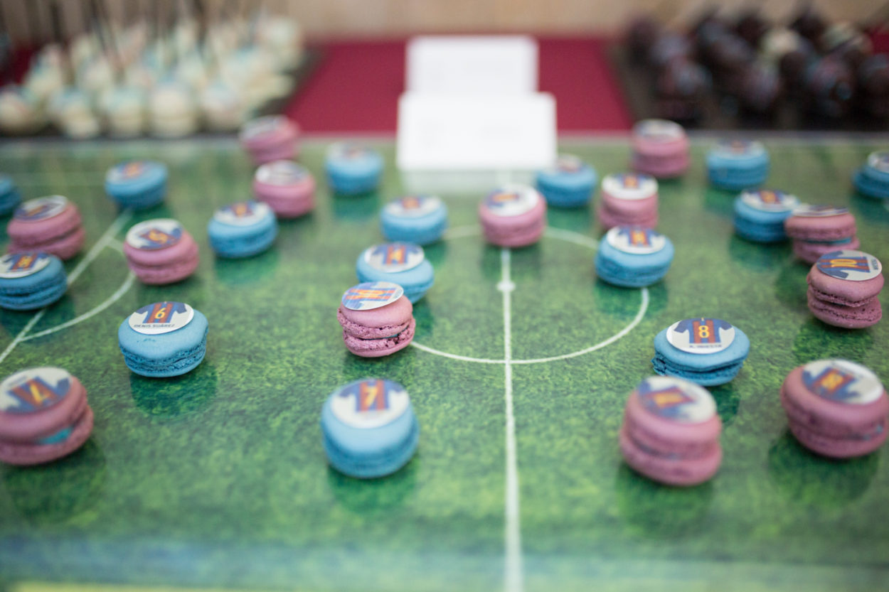 FC Barcelona Coffee Break macarons