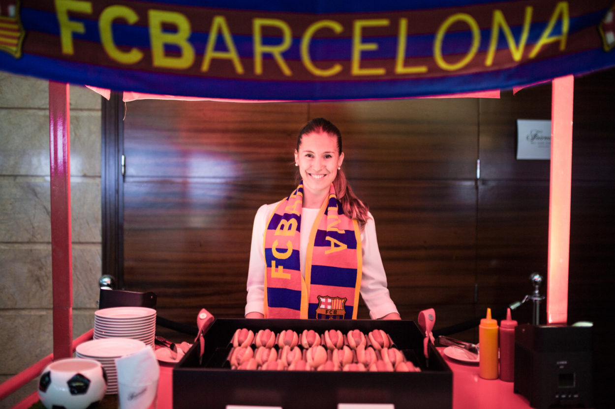 FC Barcelona Coffee Break stand